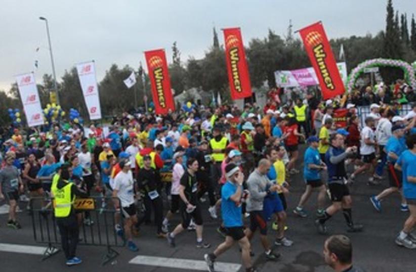 Fourth annual Jerusalem Winner Marathon. (photo credit: JERUSALEM MARATHON)