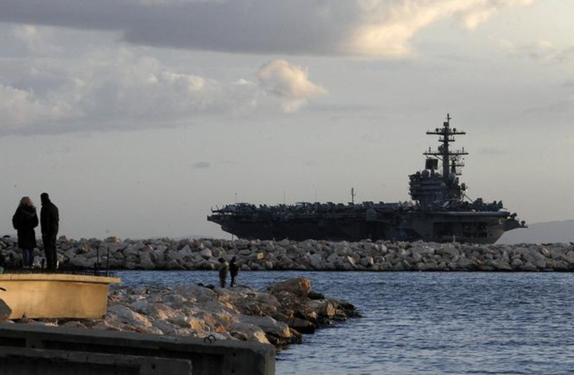 US aircraft carrier [file] (photo credit: REUTERS)