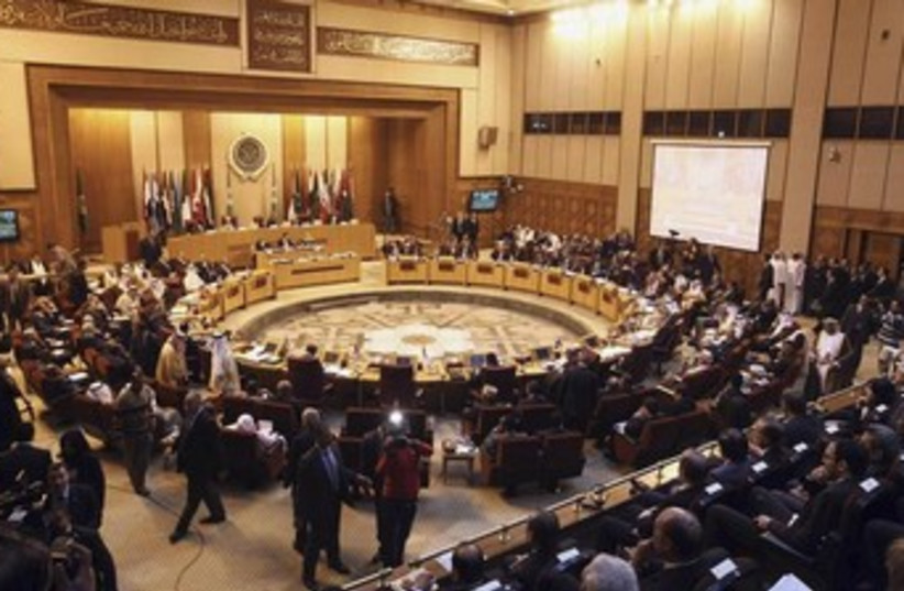 Foreign ministers of the Arab League countries meet in Cairo March, 9, 2014. (photo credit: REUTERS)