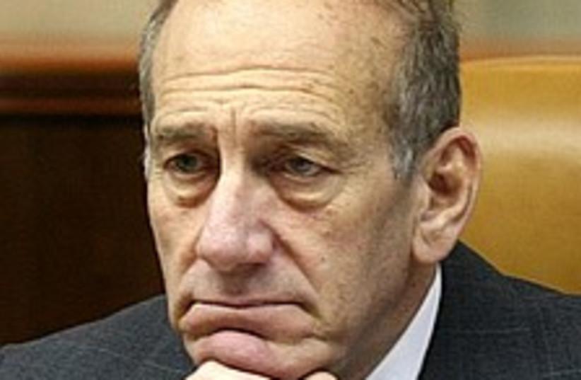 Olmert worried 224.88 (photo credit: Ariel Jerozolimski  [file])