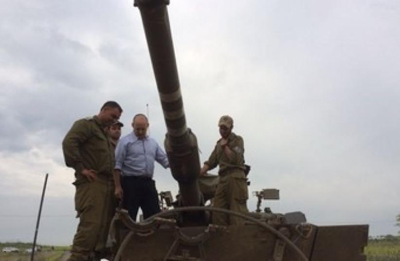 Bennett in Golan Heights (photo credit: Courtesy)