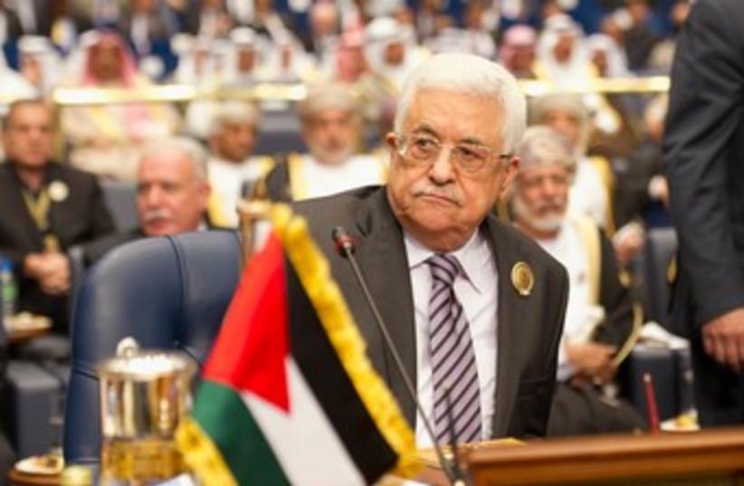 Abbas at Arab League summit (photo credit: REUTERS)