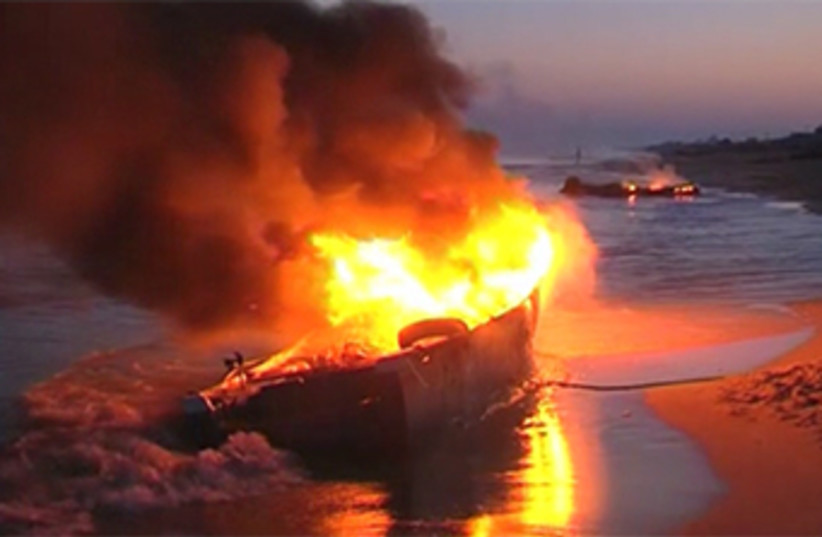 Israeli Navy Fires On Gaza Fishing Boats (photo credit: REUTERS)