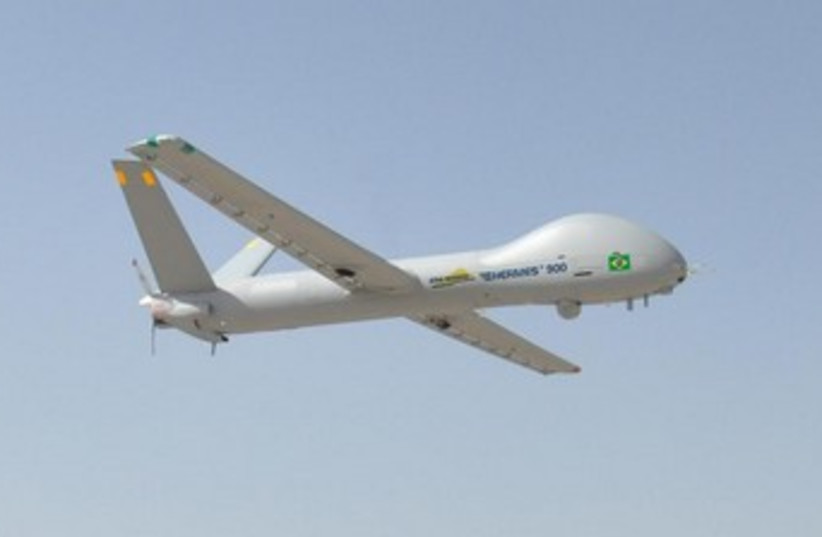 Security drone to be used in 2014 World Cup in Brazil (photo credit: Courtesy)