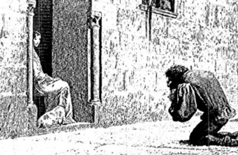 Illustration from the 1889 edition of Victor Hugo's 'The Hunchback of Notre Dame' (photo credit: Wikimedia Commons)