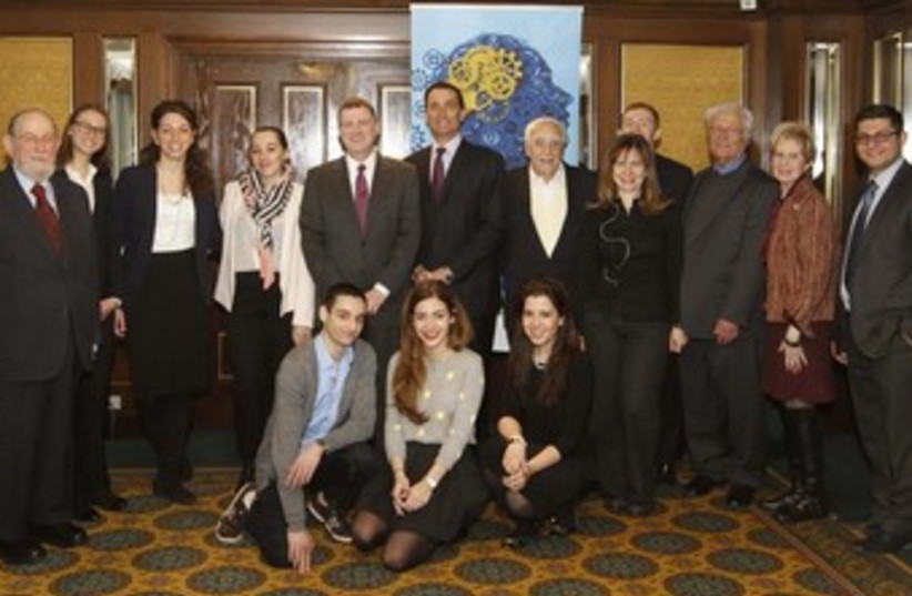 Knesset Speaker Yuli Edelstein with Limmud FSU participants. (photo credit: Courtesy)