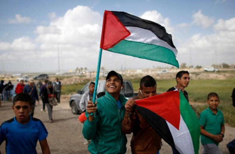 Land Day protest near Beersheba, March 30, 2014. (photo credit: REUTERS)