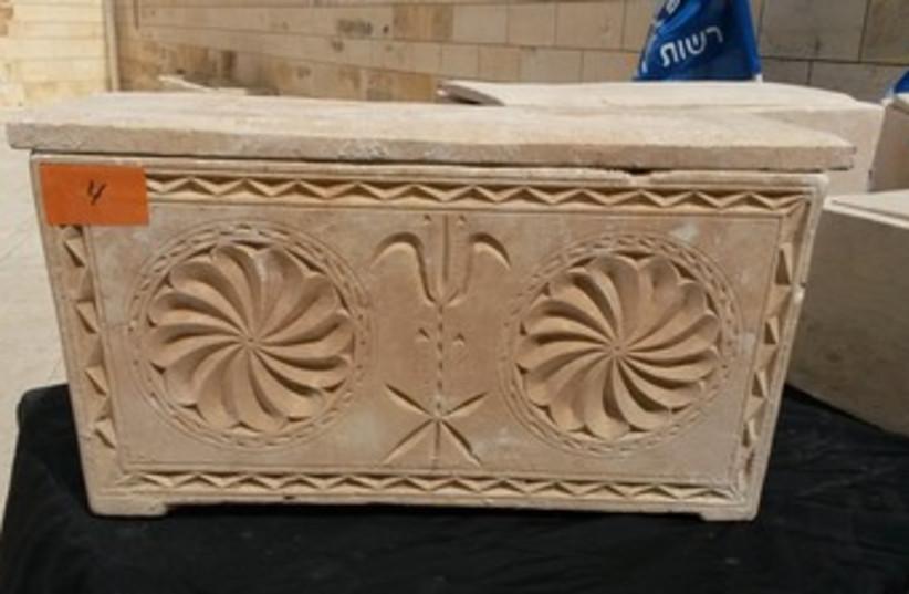 2,000 year-old-coffins stolen in Jerusalem (photo credit: IAA)