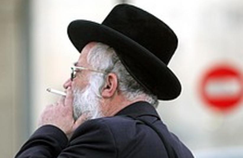 smoking haredi 224 88 (photo credit: Ariel Jerozolimski)