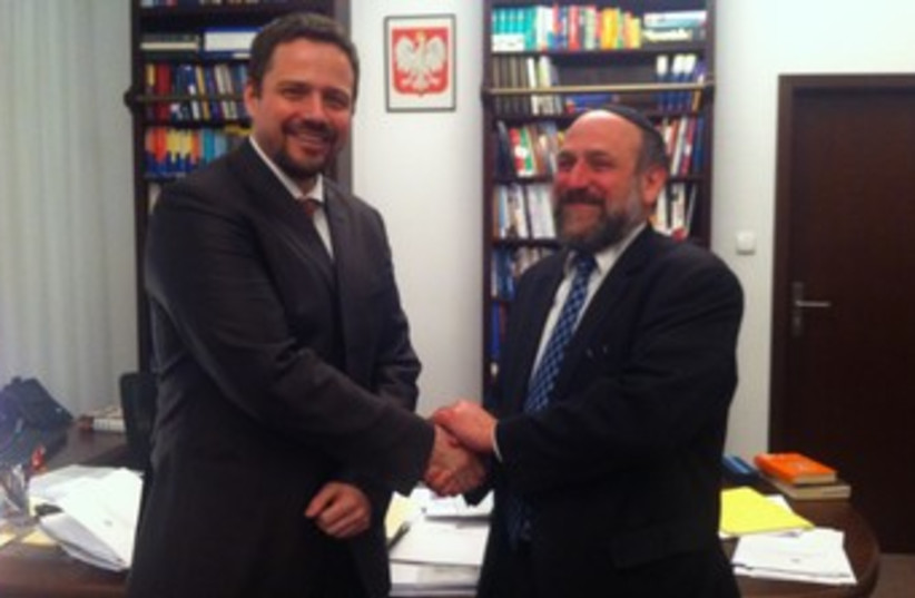 Jewish rabbis in Poland (photo credit: CONFERENCE OF EUROPEAN RABBIS)