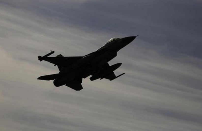 Israeli F-16 fighter jet. [File] (photo credit: REUTERS)