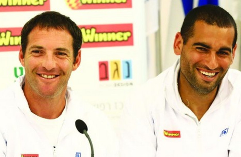Yoni Erlich (left) and Andy Ram. (photo credit: ITA/COURTESY)