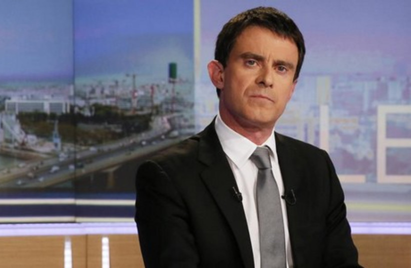 French Prime Minister Manuel Valls. (photo credit: REUTERS)