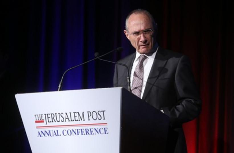 Uzi Landau at JPost Conference (photo credit: JPOST STAFF)