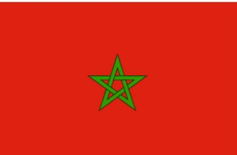 Moroccan flag (photo credit: Wikimedia Commons)