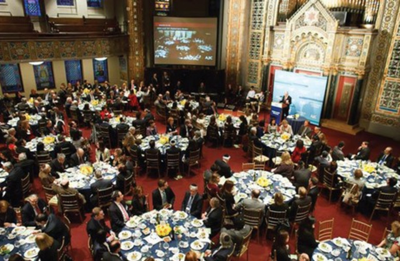 Foreign envoys gathered at Manhattan's Congregation B'nai Jeshurun Thursday evening for the American Jewish Committee's annual Passover Seder for diplomats. (photo credit: AJC)