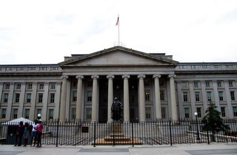 US Treasury Department building. (photo credit: Wikimedia Commons)