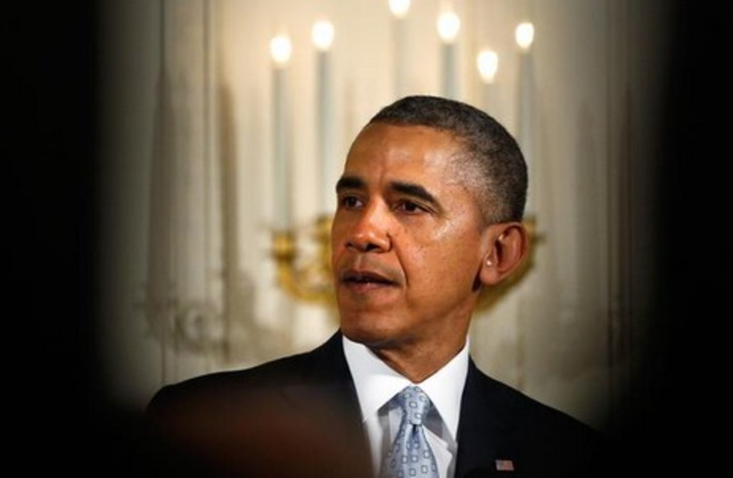 Obama on Passover (photo credit: REUTERS)