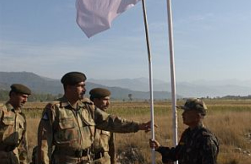 pakistan peace flag 298. (photo credit: AP)
