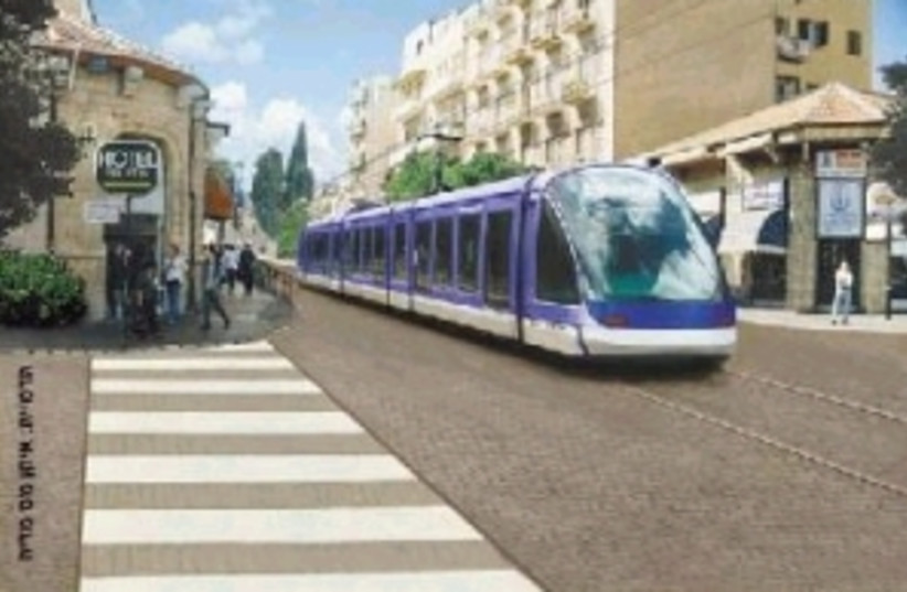 jerusalem light rail 298 (photo credit: )
