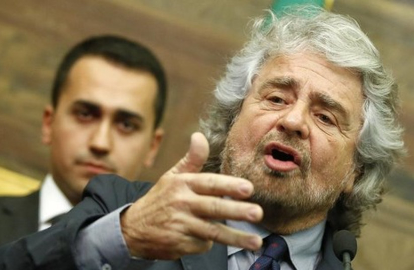 Beppe Grillo. (photo credit: REUTERS)