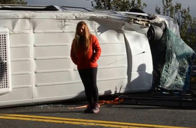 Argentinian bus crash with Israelis on board (photo credit: YOUTUBE SCREENSHOT)