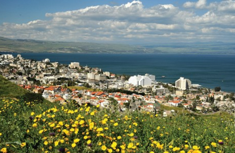 A panoramic view of Tiberias on the shores of Lake Kinneret. (photo credit: TIBERIAS MUNICIPALITY)