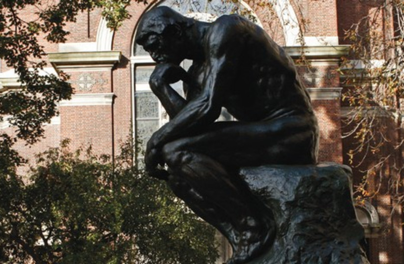 AUGUSTE RODIN'S statue of a philosopher. (photo credit: REUTERS)