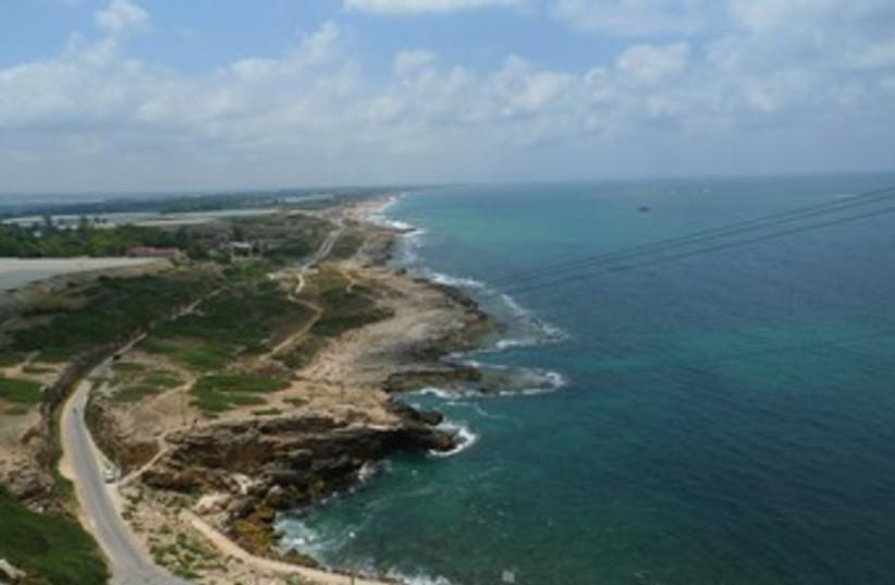 The Rosh Hanikra shoreline (photo credit: Courtesy)