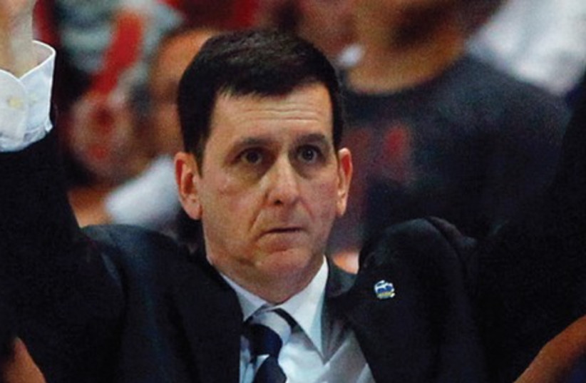 Bnei Herzliya coach Muli Katzurin breathed a huge sigh of relief last night after his team secured its BSL survival with an 80-79 victory over Hapoel Eilat. (photo credit: REUTERS)
