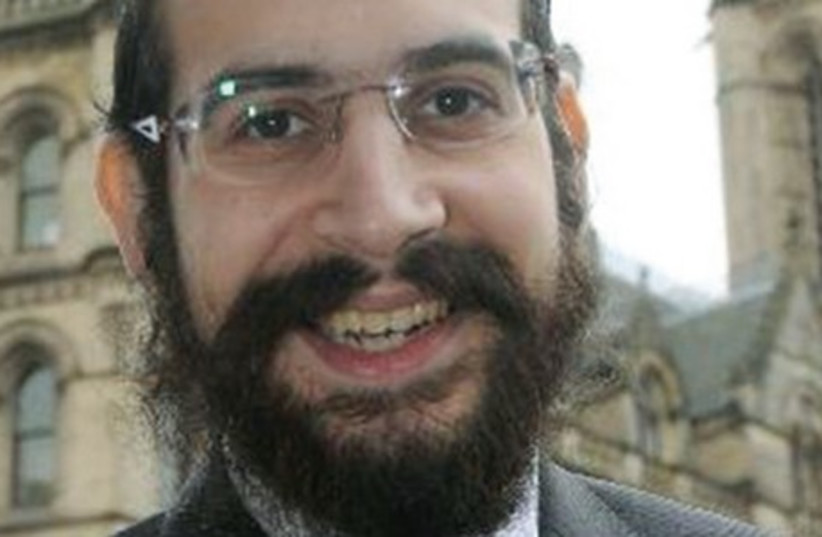 Shneur Odze, the Euroskeptic UK Independence Party (photo credit: TWITTER)