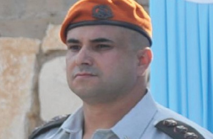 COL. ARIK ELAZAR, the outgoing district commander of the Home Front Command. (photo credit: IDF SPOKESMAN'S OFFICE)
