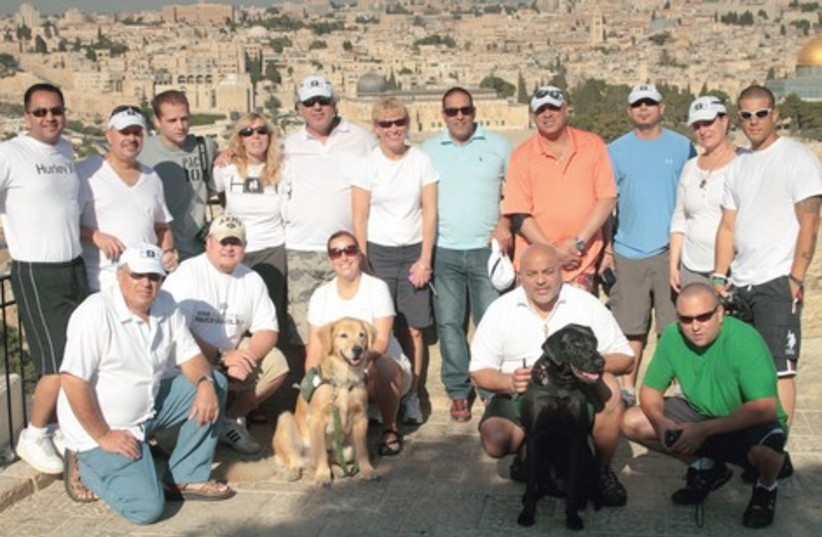 "A Heroes to Heroes delegation visits Jerusalem; the US vets say they feel ""right at home"" in Israel (photo credit: Courtesy)"