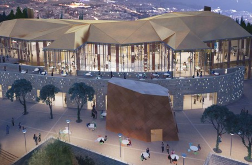 Yes Planet Sherover Cultural Center in Jerusalem's Abu Tor neighborhood will become a 16-screen movie, entertainment and restaurant complex by June 2015. (photo credit: Courtesy)