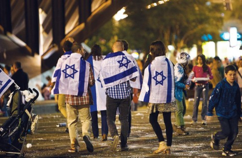 Last year's Independence Day celebrations in Tel Aviv (photo credit: REUTERS)