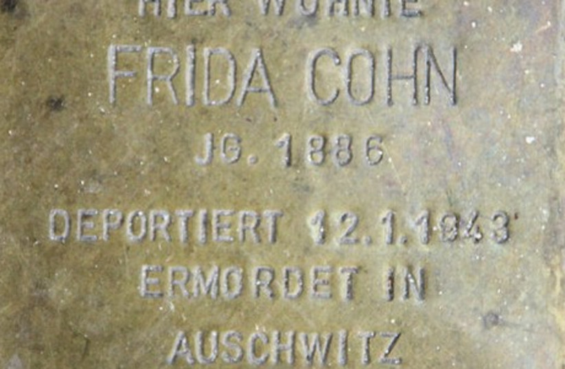 "Commemorative ""Stolpersteine"" in Berlin (photo credit: Wikimedia Commons)"