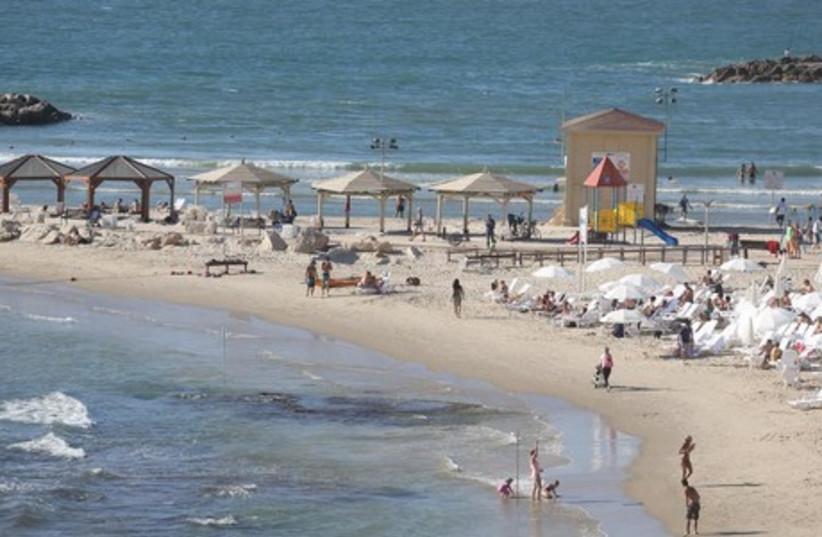 Israel at the beach (photo credit: MARC ISRAEL SELLEM)