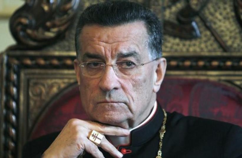 Lebanon's Christian Maronite Patriarch Beshara al-Rai. (photo credit: REUTERS)