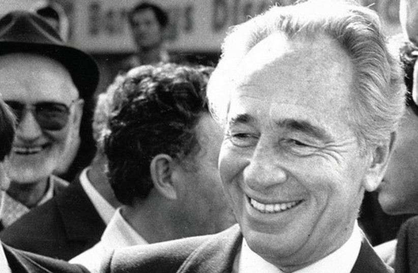 Peres as prime minister in 1986. (photo credit: JERUSALEM POST ARCHIVE)