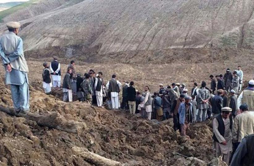 Afghanistan landslide  (photo credit: REUTERS)