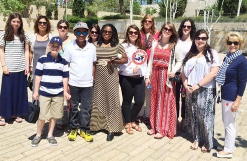 US delegation of widows and Orphans at Yad Vashem (photo credit: COURTESY OF IDFWO)