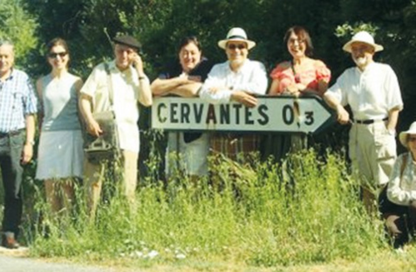 OUTSIDE THE village of Cervantes (from left) are Prof. Leandro Rodriguez (third), Prof. Jesus Jambrina (fifth) and Marion Fischel. (photo credit: Courtesy)