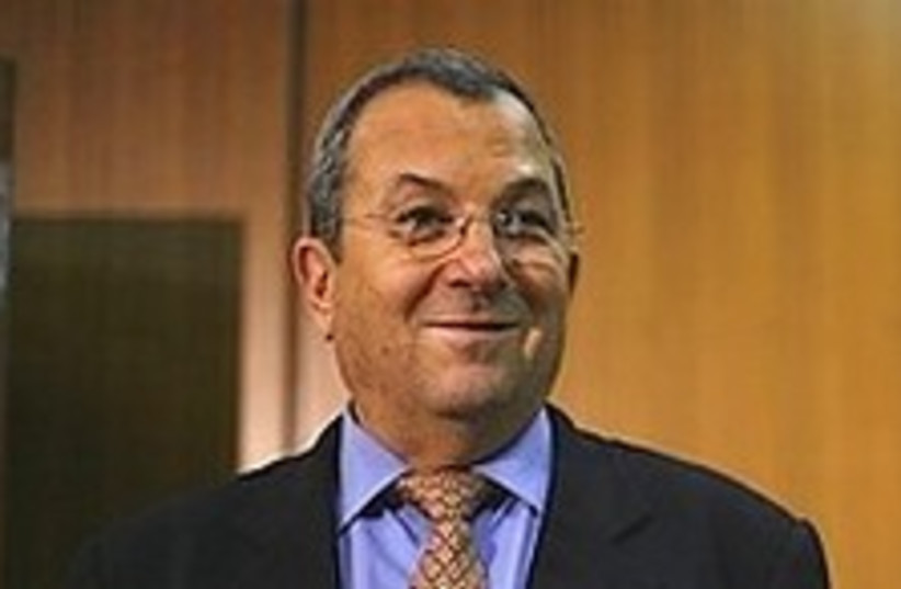 Ehud Barak smug as hell 224.88 (photo credit: AP)