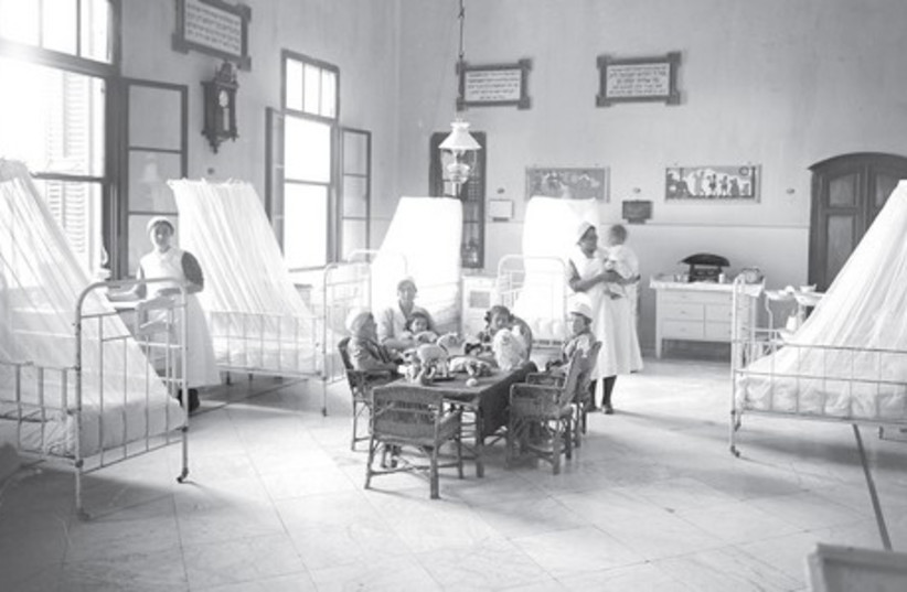 SHAARE ZEDEK Hospital over a century ago in Jaffa Road. (photo credit: TOWER OF DAVID MUSEUM)