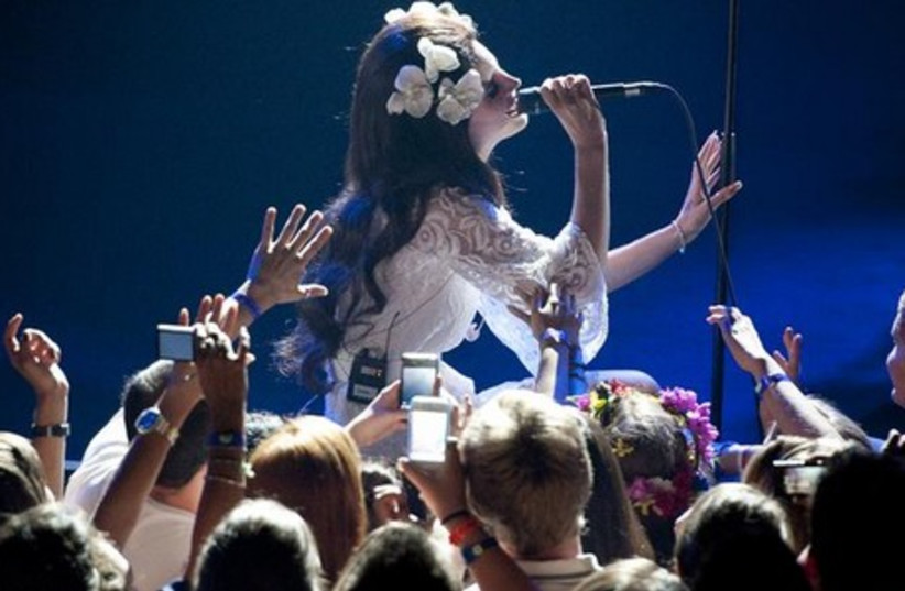 Lana del Rey performs in the Miles Davis Hall during the 46th Montreux Jazz Festival July 4, 2012.  (photo credit: REUTERS)
