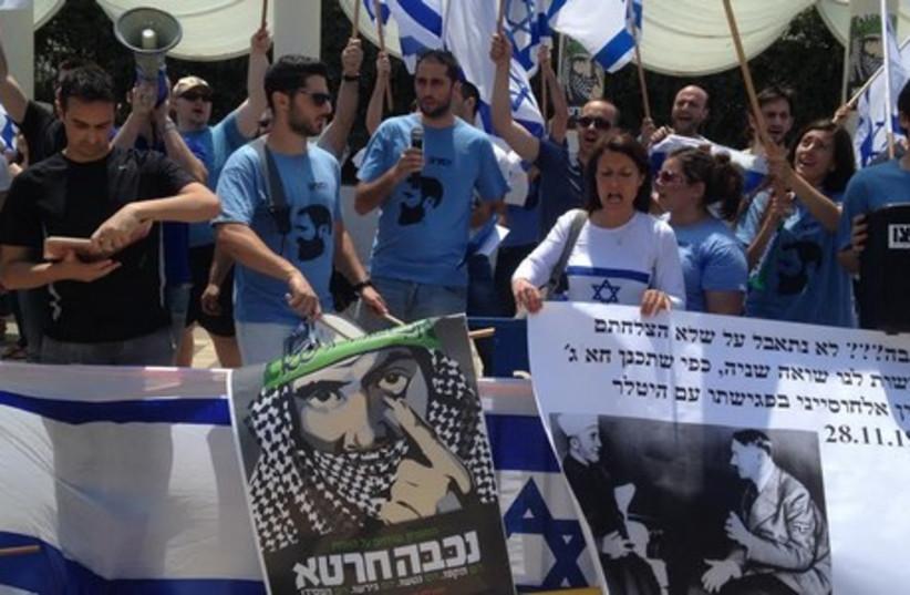 University students protest Nakba Day (photo credit: MAY BINSTOCK)