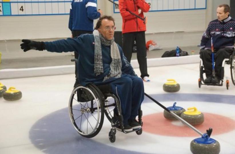 Israeli wheelchair curlers (photo credit: ISRAEL CURLING FEDERATION)