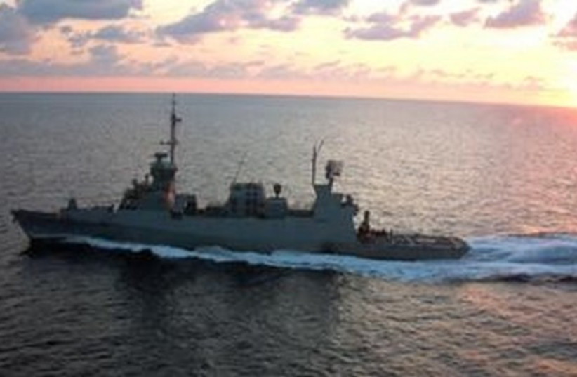 Sa'ar 5-class corvette (photo credit: ISRAEL NAVY)