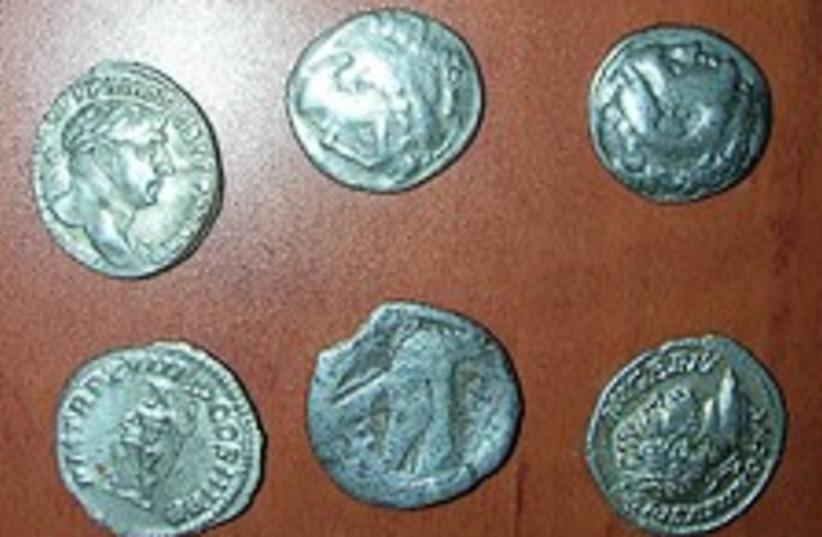 stolen coins 224.88 (photo credit: Israel Antiquities Authority)