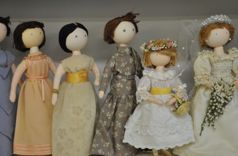 HAPPY FAMILIES: Some of the dolls handmade by Rebecca Schuleberg, part of the collection at the Israel Museum's Youth Wing. (photo credit: COURTESY: IMJ)